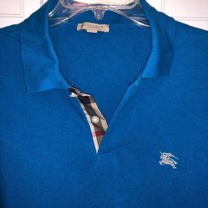 Men's Burberry blue polo